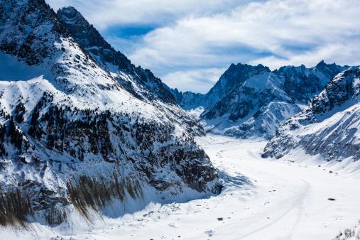 "Ski Resort「""Mer de glace"" glacier - ""Sea of Ice"", Chamonix, France」:スマホ壁紙(11)"