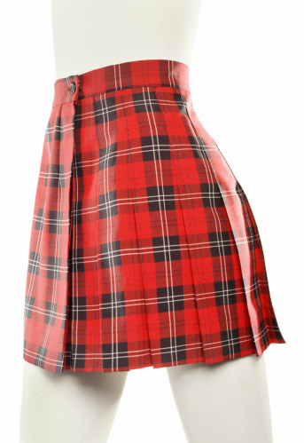 タータンチェック「A red plaid school girl skirt on a mannequin」:スマホ壁紙(10)