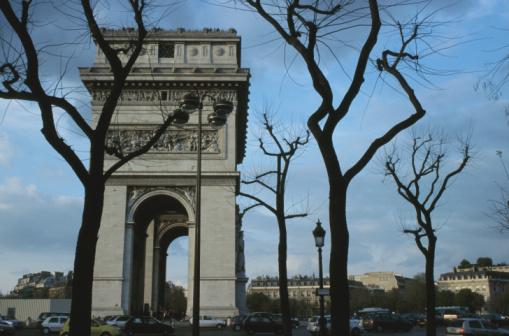 Arc de Triomphe - Paris「Side view of Arc de Triomphe, Paris, France」:スマホ壁紙(14)