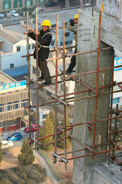 Danger「High rise construction on the new HQ of Chinese travel agency, CYTS, in Donghzhimen, Beijing.」:写真・画像(17)[壁紙.com]