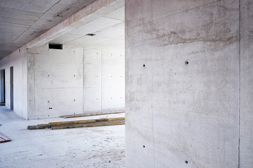 Concrete Wall「Unfinished building under construction」:スマホ壁紙(5)