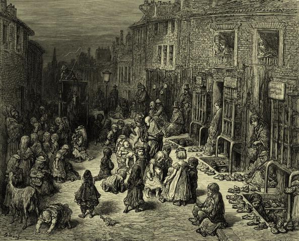 City Life「Victorian London street with children」:写真・画像(11)[壁紙.com]