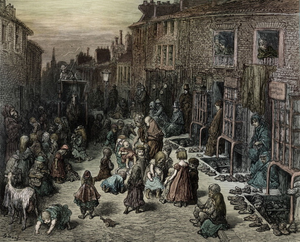 19th Century Style「Victorian London street with children by Doré」:写真・画像(19)[壁紙.com]