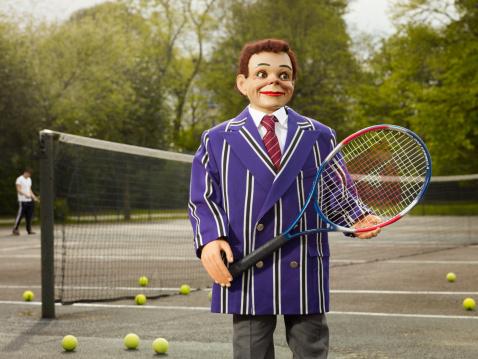Ventriloquist's Dummy「Ventriloquist doll as a tennis player」:スマホ壁紙(12)