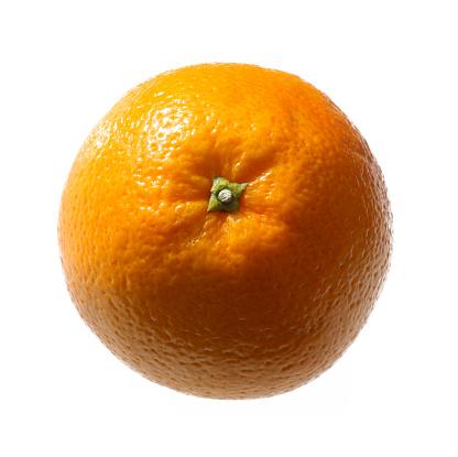 Orange - Fruit「Ripe orange from above, on a white background.」:スマホ壁紙(18)