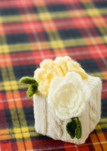 Tartan check「Knit gift box」:スマホ壁紙(9)