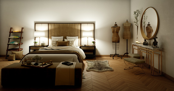 Desk Lamp「Fancy Bedroom Interior」:スマホ壁紙(0)