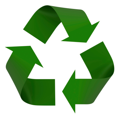 Recycling Symbol「A green recycling symbol is on a white background 」:スマホ壁紙(8)