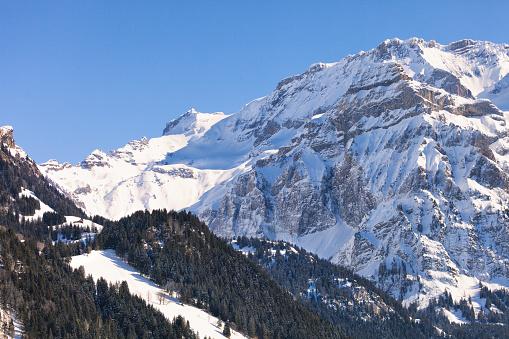 Snow mountain「冬の午後には、スイスアルプスのディテール」:スマホ壁紙(4)