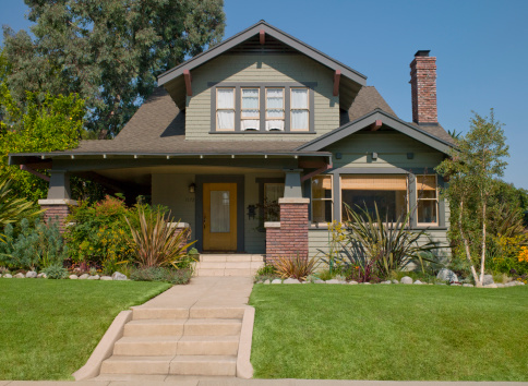 City Of Los Angeles「Stairs leading to craftsman house」:スマホ壁紙(3)