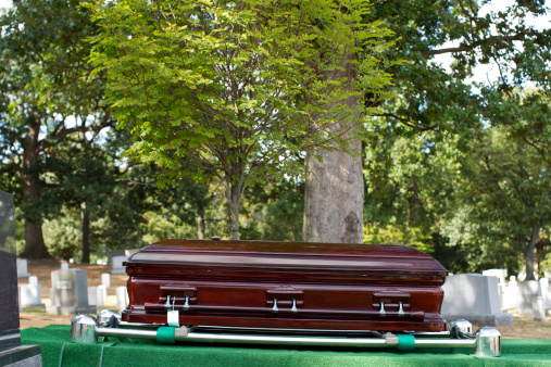 Military「Coffin lowering into grave in military cemetery, Arlington, Virginia, United States」:スマホ壁紙(2)