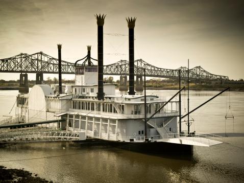 Steamer「Riverboat on the Mississippi」:スマホ壁紙(17)