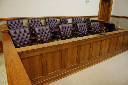 Bench「American jury box, wood trim and white walls in background」:スマホ壁紙(7)