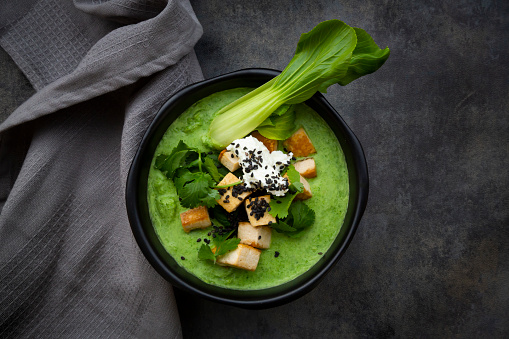 Green Curry「Green thai curry with spinach, pak choi, tofu, sour cream, black sesame and rice」:スマホ壁紙(7)