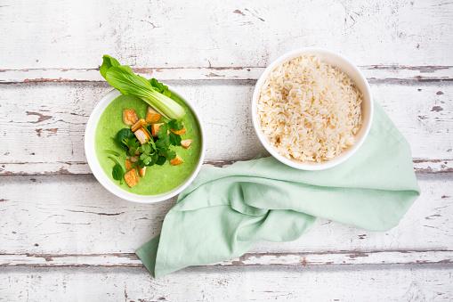 Jasmine Rice「Green thai curry with spinach, pak choi, tofu, coriander and jasmine rice」:スマホ壁紙(4)