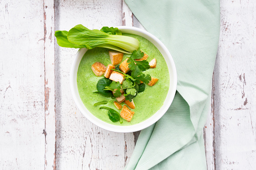 Green Curry「Green thai curry with spinach, pak choi, tofu and coriander」:スマホ壁紙(7)
