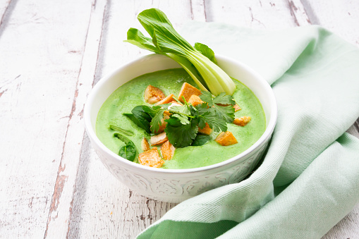 Green Curry「Green thai curry with spinach, pak choi, tofu and coriander」:スマホ壁紙(6)