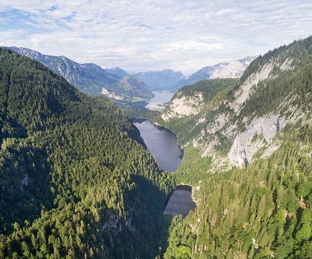 Salzkammergut「Kammersee, Toplitzsee, Grundlsee - Three Lake Panorama, Austria」:スマホ壁紙(16)