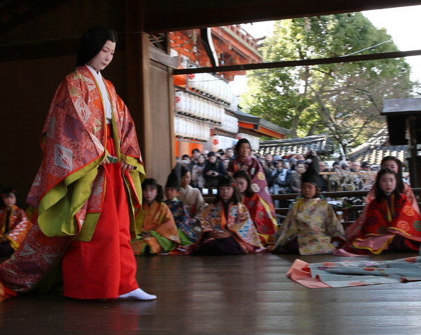 Tanka「Ceremony of the First Karuta Card Game Of New Year Held In Kyoto」:写真・画像(1)[壁紙.com]