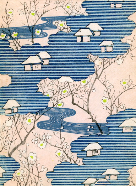 Pattern「Cottages And Cherry Blossoms」:写真・画像(18)[壁紙.com]