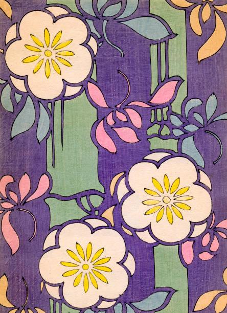 Flowers on Purple Background:ニュース(壁紙.com)