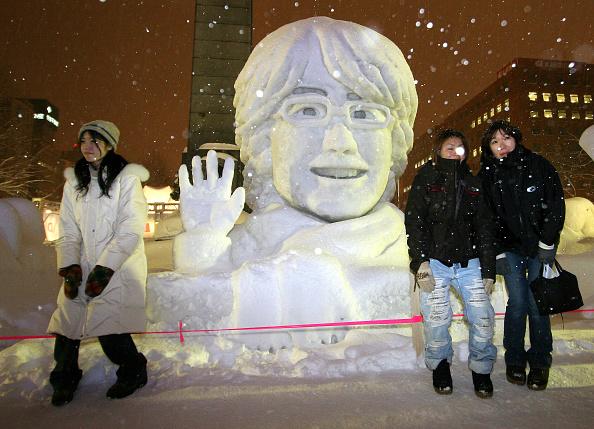 Mombetsu Ice Festival「Koizumi visits Sapporo Snow Festival」:写真・画像(4)[壁紙.com]