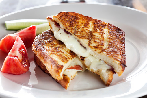 Cheese Sandwich「Toast with tomato and mozzarella,Toasted Bread」:スマホ壁紙(18)