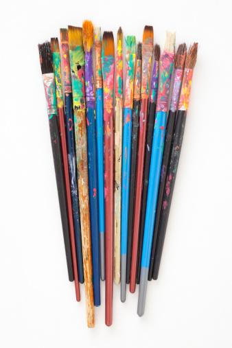 Acrylic Painting「Used paintbrushes」:スマホ壁紙(14)