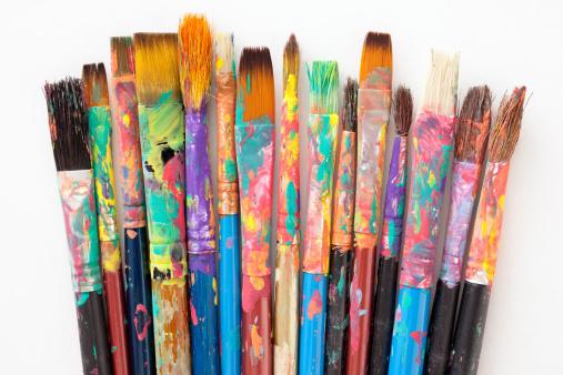 Acrylic Painting「Used paintbrushes」:スマホ壁紙(5)