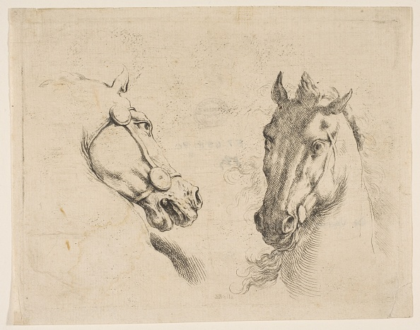 Etching「Two Horse Heads」:写真・画像(1)[壁紙.com]