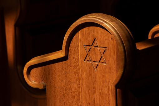 Temple「Old renovated Synagogue interior in Mad, Tokaj region, Hungary」:スマホ壁紙(2)