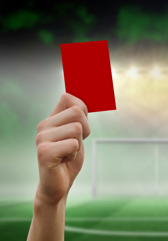 Goal Post「Composite image of hand holding up red card」:スマホ壁紙(9)