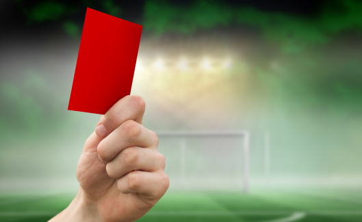 Goal Post「Composite image of hand holding up red card」:スマホ壁紙(10)