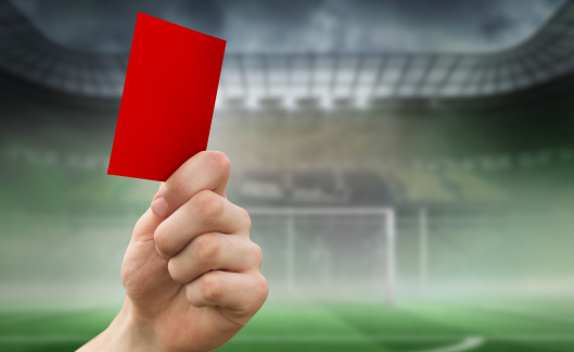 Goal Post「Composite image of hand holding up red card」:スマホ壁紙(19)