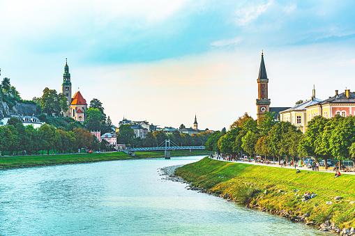 Music Festival「Salzburg skyline with Festung Hohensalzburg and Salzach river」:スマホ壁紙(6)