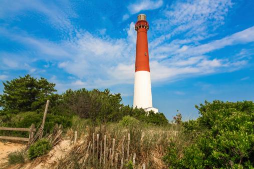 ニュージャージー州「バーネガット灯台、砂、ビーチや砂丘のフェンス、ニュージャージー州」:スマホ壁紙(16)
