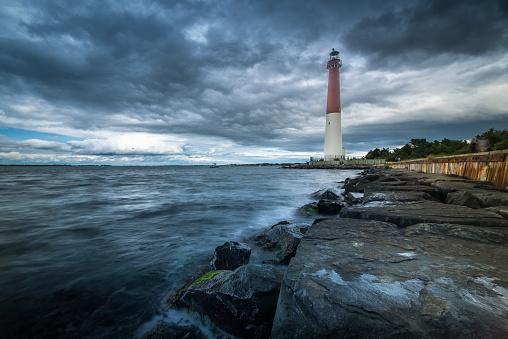 ニュージャージー州 ジャージー・ショア「バーネガット灯台、ニュージャージーから見たビーチ」:スマホ壁紙(5)