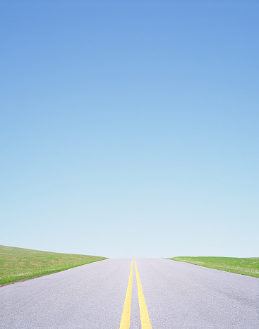 Dividing Line - Road Marking「Road and blue sky」:スマホ壁紙(15)