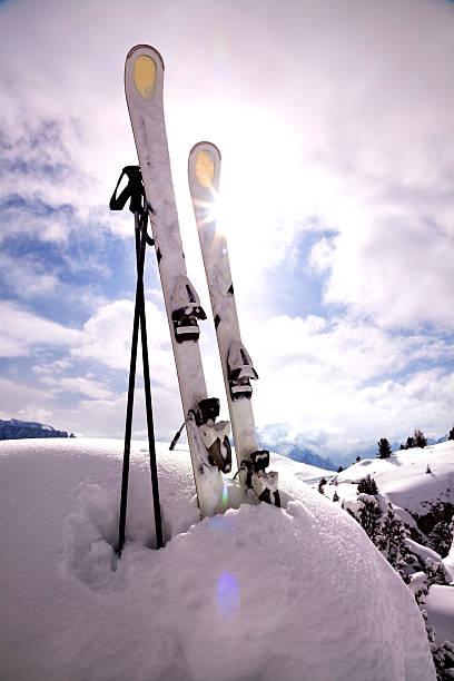Mountain ski sunset:スマホ壁紙(壁紙.com)