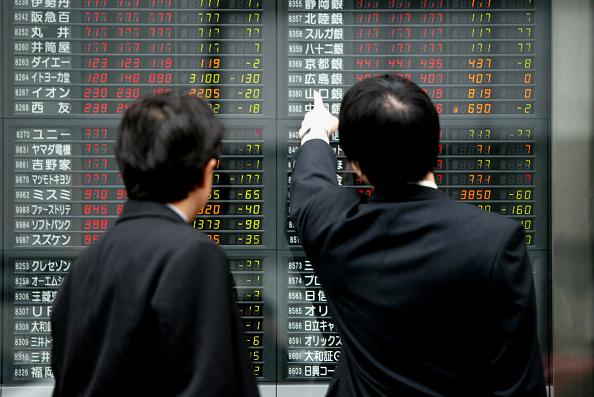 Tokyo - Japan「Nikkei Slips On Threat Of War」:写真・画像(6)[壁紙.com]