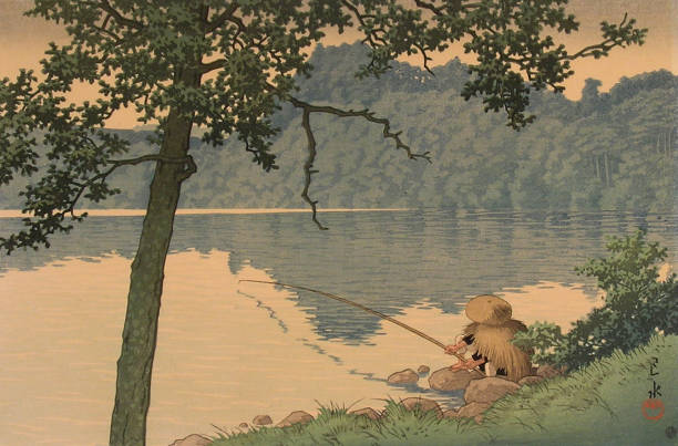 Fisherman, woodblock print by Kawase Hasui:ニュース(壁紙.com)