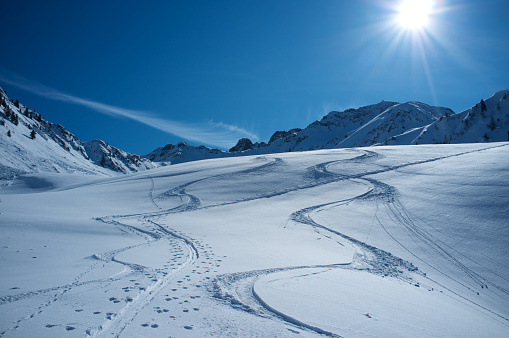 スキー「スキーのトラック」:スマホ壁紙(16)