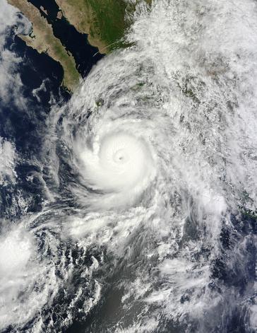Baja California Peninsula「September 14, 2014 - Hurricane Odile southeast of the Baja California peninsula.」:スマホ壁紙(14)