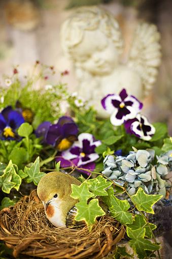 あじさい「鳥の巣ビルビュー春の花のガーデン」:スマホ壁紙(11)