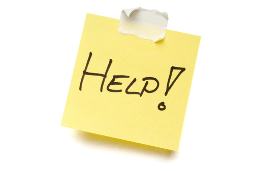A Helping Hand「Yellow Help post-it note on white」:スマホ壁紙(6)