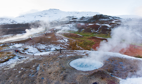温泉「ストロックル Geysir 、アイスランド」:スマホ壁紙(15)