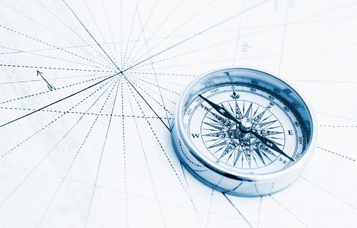Navigational Compass「Blue compass high key」:スマホ壁紙(14)