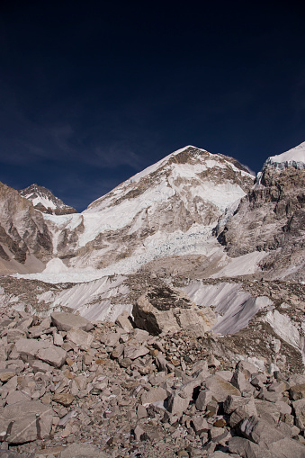 Khumbu「Glaciers forming on Himalayan peaks, Mt Everest Base Camp, Gorak Shep, Everest Base Camp Trek, Nepal」:スマホ壁紙(3)