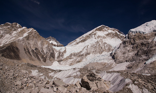 Khumbu「Glaciers forming on Himalayan peaks, Mt Everest Base Camp, Gorak Shep, Everest Base Camp Trek, Nepal」:スマホ壁紙(13)