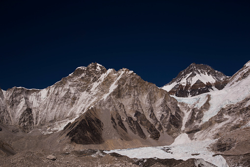 Khumbu「Glaciers forming on Himalayan peaks, Mt Everest Base Camp, Gorak Shep, Everest Base Camp Trek, Nepal」:スマホ壁紙(18)